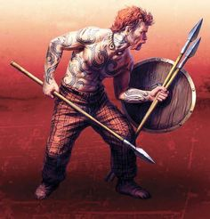 Lanzador de dardos galo, Alesia 52 aC (French dart thrower, Alesia 52 BC)