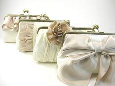 Custom Bridesmaids Clutches - Silk Charmeuse Collection - Multi Colour $80