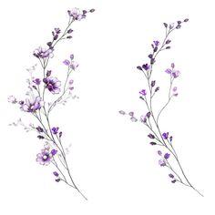 Mini Tattoos, Cute Tattoos, Small Tattoos, Tattoo Fleur, Sternum Tattoo, Floral Tattoo Design, Tattoo Designs, Flower Vine Tattoos, Aquarell Tattoos