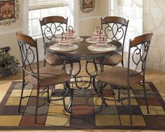 Plentywood 5-Piece Round Dining Table Set by Signature Design by ...