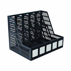 Advantus Literature File, Five Slots, Black Ipad Storage, Laptop Storage, Storage Boxes, Storage Ideas, Folder Organization, Home Office Organization, Office Storage, Organization Station, Organizing Ideas