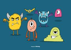 Cute & colorful monster illustrations. Enjoy.