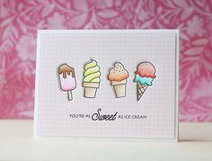 Waffle Flower Crafts-Sweet Ice Cream