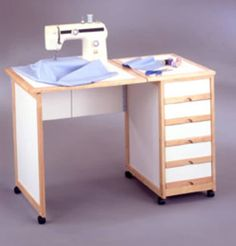 Portable Sewing Table at Comfort House - We always have so many projects going at this time of year - Folding Sewing Table, Diy Sewing Table, Sewing Machine Tables, Sewing Machines, Sewing Room Design, Sewing Spaces, Sewing Rooms, Table Ikea, Diy Table
