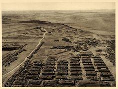 1929 Giza Necropolis Egypt Pyramid Desert Landscape - ORIGINAL PHOTOGRAVURE EG1