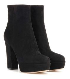 GIANVITO ROSSI Suede Platform Ankle Boots. #gianvitorossi #shoes #boots