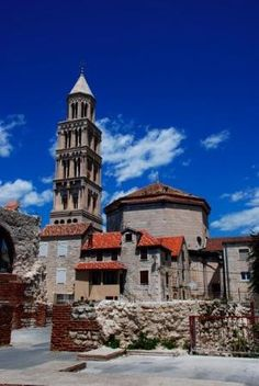 Cathedral and Bell Tower of St. Domnius - Split, Croatia.