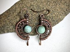 A personal favorite from my Etsy shop https://www.etsy.com/listing/544666981/copper-wire-wrapped-earrings