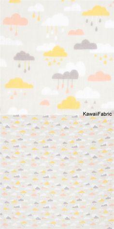 pale grey double gauze fabric cute cloud from Japan - Kawaii Fabric Shop Michael Miller, Kawaii, Long White Cloud, Cosmo, Modes4u, Textiles, Fabric Shop, Double Gauze Fabric, Delicate