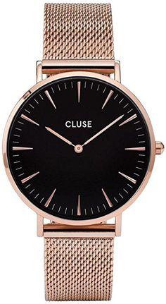 a7a2f792b92243 Cluse - CL18113 - Analogique avec Bracelet en Acier Inoxydable Plaqué -  Montre - Femme - Doré (Rose Gold)  Cluse  Amazon.fr  Montres