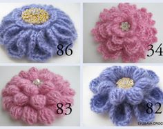 Crochet PATTERNS - Special Offer - Crochet Brooch Patterns - Crochet Flowers Patterns - 4 PDF Files For 12 dollars only - Instant Download