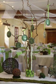 Exemple décoration de table zen | Centerpieces, Wedding and Weddings