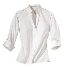 "Classic White Shirt. ""Whether paired with dress pants, a skirt, or jeans, this item is always polished and sophisticated. Just be mindful of the proper clothing maintenance!"" (Tim Gunn's Guide to Style)"