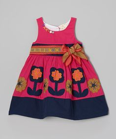 Look what I found on #zulily! Fuchsia & Purple Flower Dress - Infant, Toddler & Girls by the Silly Sissy #zulilyfinds