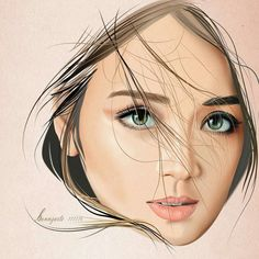 Kath Filipina Actress, Filipina Beauty, Kathryn Bernardo Photoshoot, Caricature, Angel Locsin, Star Magic, Daniel Padilla, Photo Sketch, Cute Drawings