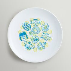 6 Decorative Plates, Ceramics, Focus Group, Product Design, Home Decor, Illustration, Mesas, Chickpeas, Illustrators