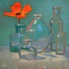scintilleadamantine: Glass on glass and a flower - Carol Marine