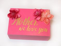 Mothers day letter box from MichaelsMakers Classy Clutter
