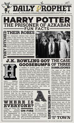 The Prisoner of Askaban – Laura-Blaise McDowell – Handwerk und Basteln Harry Potter 2, Harry Potter Poster, Harry Potter Newspaper, Hery Potter, Estilo Harry Potter, Images Harry Potter, Harry Potter Bedroom, Harry Potter Halloween, Harry Potter Birthday