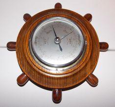 Vintage Retro Shortland 'ASB' England Ships Wheel Barometer Nautical 1950s?