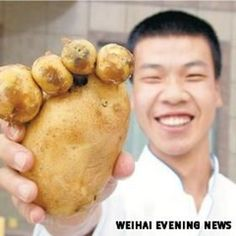 ★♥★  The #Potato Foot ! Unbelievable Ghost #Vegetables shapes ★♥★