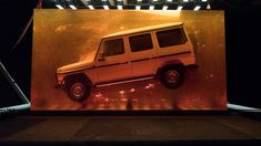 Jurassic SUV: Mercedes Embeds 1979 G-Class In Giant Block of Resin