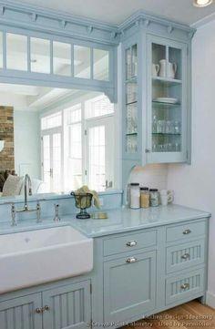 Custom Cottage Blue Cabinets