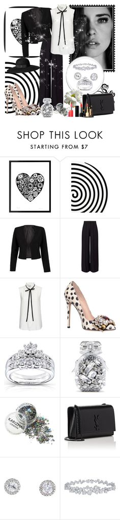 """""""Untitled #946"""" by misaflowers ❤ liked on Polyvore featuring Altreforme, WithChic, Miss Selfridge, Frame Denim, GEDEBE, Kobelli, Victoria's Secret, H&M, Yves Saint Laurent and Harry Winston"""