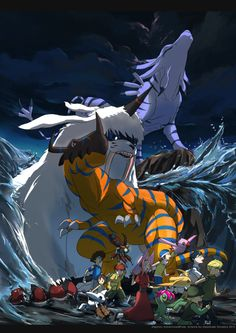 Digimon Adventure: G Digimon Adventure: Garurumom Ikkakumon Greymon Tai (Taichi) Izzy (Koushiro) with Tentomon Kari (Hikari) with Gatomon (Tailmon) Mimi with Palmon Sora with Biyomon (Piyomon) Joe T. (Takeru) with Patamon and Matt (Yamato) Digimon 02, Digimon Tamers, Digimon Wallpaper, Cute Pokemon Wallpaper, Digimon Adventure Tri, Adventure Kids, Thundercats, Geeks, Digimon Frontier