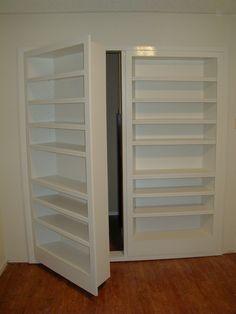 hidden door in bookcase