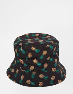 17bdbf896c6 ASOS Bucket Hat In Black PinEapple Print created by  ShoppingIS