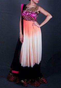 Multicoloured Anarkali Salwar Kameez @ www.jabongworld.com/multicoloured-anarkali-637980.html/?&utm_source=Organic&utm_medium=pinterest&utm_campaign=Anarkali