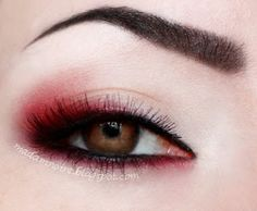 Easy grunge & goth makeup - Red shadow