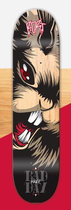 BORT   Bad Hare Day. Skateboard design
