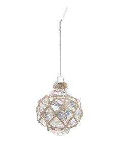 Criss-Cross Balloon Glass Bauble