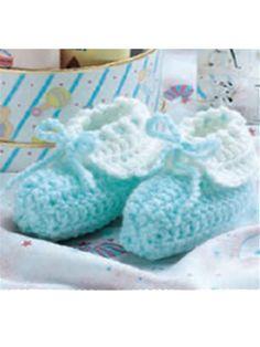 booties - free crochet pattern