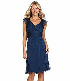 Adrianna Papell Woman Chiffon Dress$158.00 Dillards