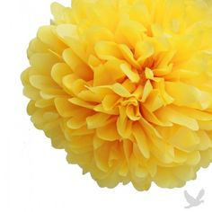 Sunflower Yellow Tissue Paper Pom Poms