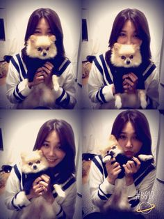 Eunji with doggie