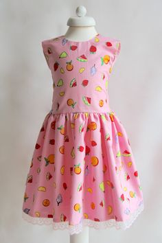 Pink Dress for 1 to 10 Years Girls Party by EnchantingDesignsUK