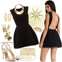 Little Black Dress... In Gold