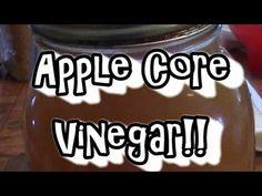 Apple Core Vinegar!! Make Apple Cider Vinegar, Vinegar With The Mother, Long Term Food Storage, Home Canning, Fermented Foods, Preserving Food, Canning Recipes, Vintage Recipes, Apple Recipes