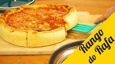 Chicago Style Pizza - Deep Dish Pizza - Rango do Rafa