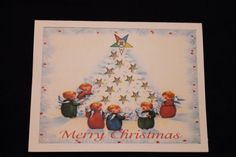 OES Christmas tree note card by OlsenEnterprises on Etsy, $10.00
