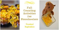 Teach children how to count. Fall Counting Activities by Preschool Inspirations