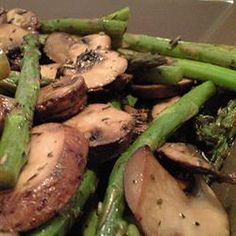 Roasted Asparagus and Mushrooms Allrecipes.com