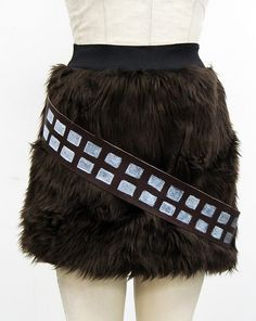 """""""Faux Fur Chewbacca Mini Skirt- Go Chase Rabbits""""  Funny. Would be fun to wear to a convention (though admittedly i'd probably turn it into a futuristic NRA hunter gag)."""