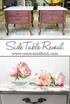 Marble Side Table -