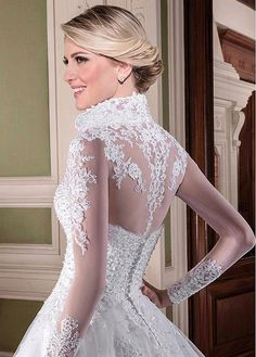 Magbridal Modest Tulle Sweetheart Neckline A-line Wedding Dresses With Beadings & Lace Applqiques & Detachable Jacket Bridal Wedding Dresses, Dream Wedding Dresses, Designer Wedding Dresses, Belle Bridal, Event Dresses, Bridal Looks, Beautiful Gowns, Marie, Lace Dress