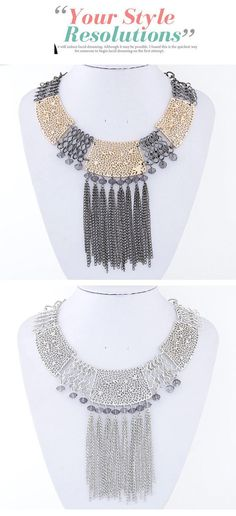 Popular Gun Black Tassel Decorated Hollow Out Design Alloy Korean Necklaces,Korean Necklaces